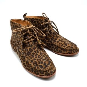 AERIN Portledge Suede Leopard Ankle Chukka Boots